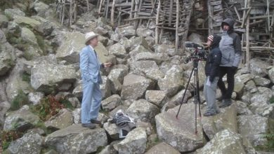 Photo of Queen Carolyn and Minister of Art & Jump interviewed for documentary about Ladonia